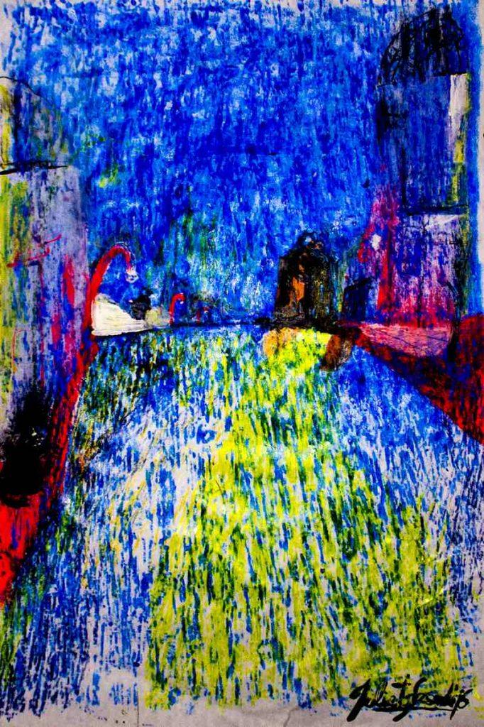 Beso Bajo la Lluvia – 25 x 35 cm