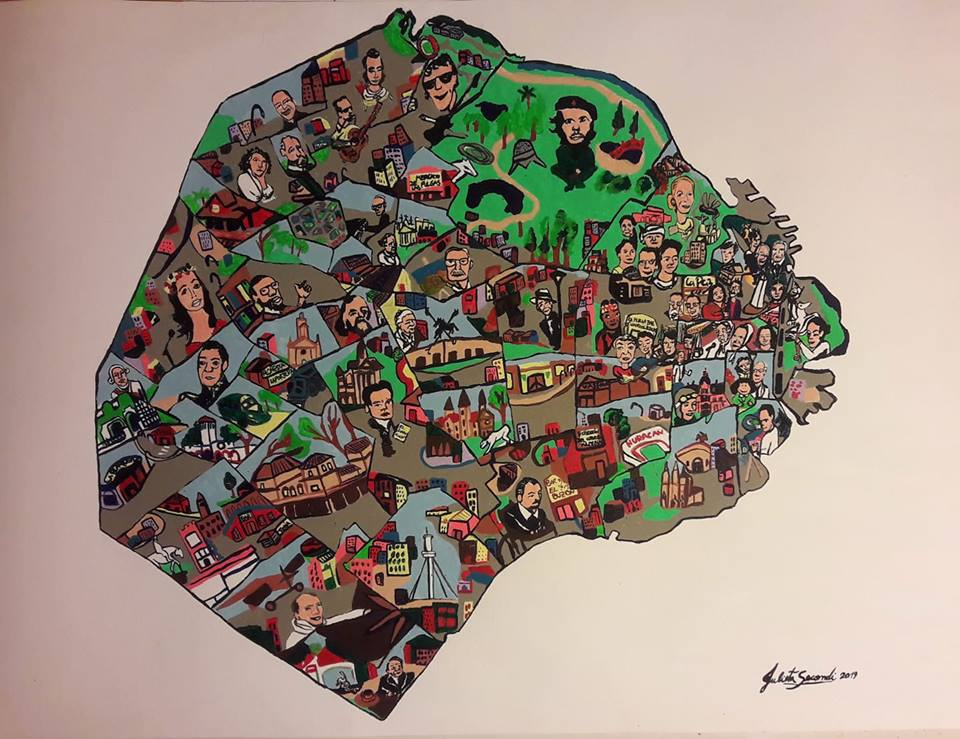 Buenos Aires Ilustrada- 50×70 cm
